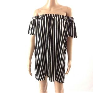 French Connection Women's Striped Crepe Dress XS
